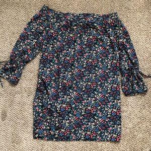 Lucky Brand off-shoulder flower dress